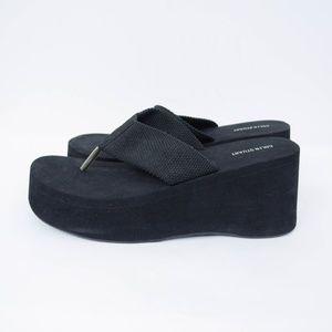 Colin Stuart Shoes - Vintage 90s Colin Stuart Platform Flip Flops